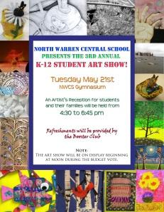 K-12 Art show Flyer